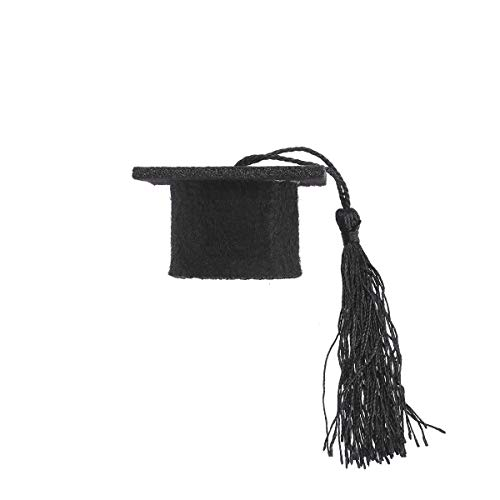 tive Mini Doctorial Hat with Tassels Wine Bottle Toppers Bottle Caps Covers Party Favors(Red) ()