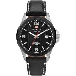 Swiss Military Hanowa Herren-Armbanduhr Analog Quarz One Size, schwarz, schwarz