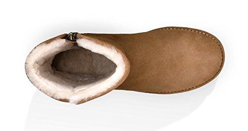 UGG Australia ABREE Short II Damen Stiefel Beige Braun