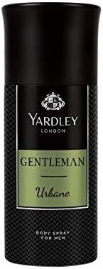Yardley Gentleman Urbane Body Spray, For Vigorous and Flamboyant male, Sandalwood, Patchouli and Musk, 150ml