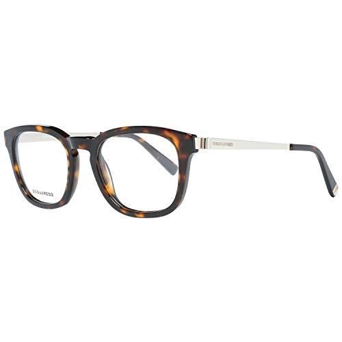 Dsquared2 dq5233 occhiali da sole, marrone (avana scura), 49.0 uomo