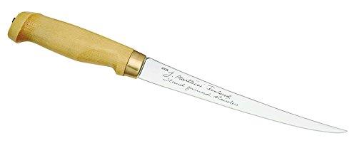 Marttiini Messer Finnisches Filiermesser, Klinge 19 cm, Holzgriff, Lederscheide 903019