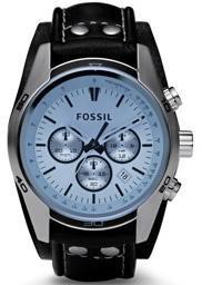 Fossil correa de reloj CH-2564 / CH-2586 / JR-1472 Piel Negro 22mm(Sólo reloj correa - RELOJ NO INCLUIDO!)