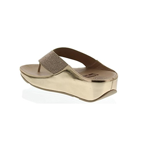 FitFlop™ Crystall Womens Fuß Post Sandalen Rose Gold