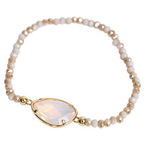THE MOSHI Bracelet Nora/lt pink Mix - Armband aus facettierten Perlen mit zauberhaft schimmerndem Schmuckstein