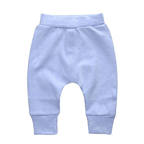Anywow Unisex Neugeborenes Baby Baumwolle Pluderhosen Säugling Mädchen Jungen Feste Beiläufige Lange Hose Böden Manschetten Hosen