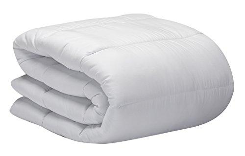 Pikolin Home - Relleno nórdico / edredón hipoalergénico de fibra anti ácaros, otoño-invierno, 400 gr/m², color blanco, 240 x 260 cm, cama 180