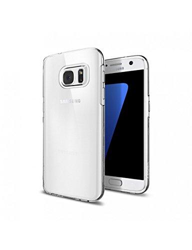 Samsung Galaxy S7móvil, SPIGEN® [Liquid Crystal] Soft Flex silicona [Crystal Clear] transparente ultrafina Delgado Bumper de Style Teléfono Móvil Premium resistente a arañazos transparente de TPU Carcasa para Samsung Galaxy S7Case Cover–Crystal Clear (555cs20006)