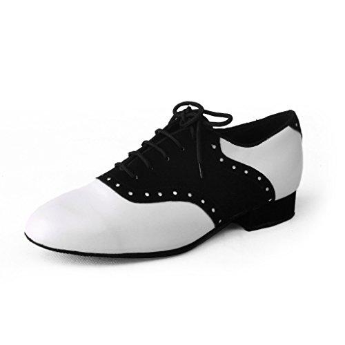 Jig Foo Herren Standard Tanzschuhe Schwarz/Weiß Schwarz/Weiß UK Size 7.5