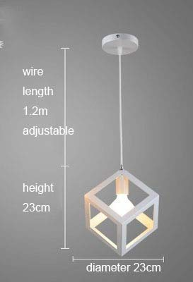 Nordic retro iron creative chandeliers loft simple personality single-head restaurant lights bar art pendent light,5 - D38 Single