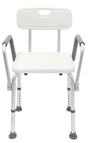 Duschstuhl m Armlehne Badestuhl Badhocker Duschhocker 150 kg Duschhilfe (Ohne Duschstuhl Armlehnen)