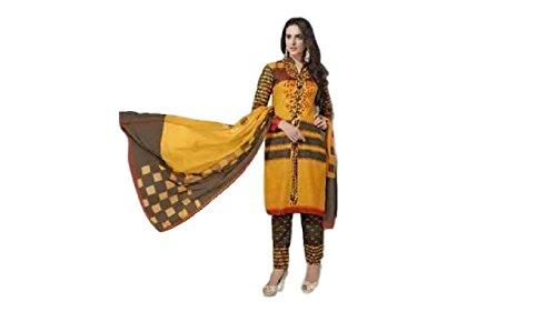 Women's Ethnic Wear Pure Cotton Unstitched Regular Wear Salwar Suits Dress Material (ES006)