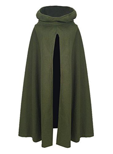 Futurino Damen Winter/Herbst Gotisch Lose Umhang mit Kapuze Mantel Poncho Kap Outwear Strickpulli Longstrickjacke - 2