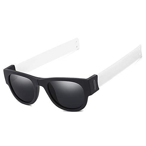 BlueAurora Faltbare Ring Temple Sonnenbrille, Trendy Party Eyewear mit polarisierten Gläsern für Urlaub und Alltag,C7