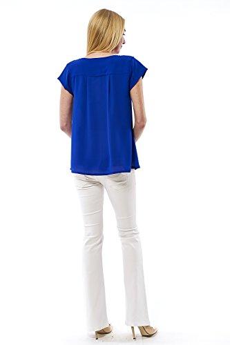 motherway - Débardeur - Uni - Col V - Femme Bleu