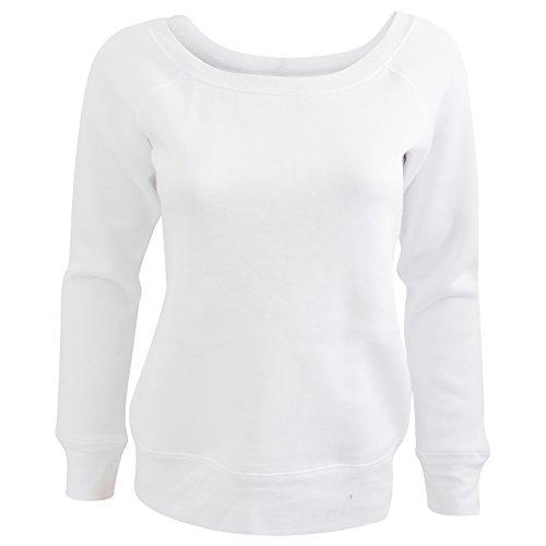 Sweatshirt à col large Bella pour femme Noir - Solid Black Triblend