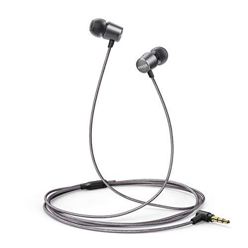 Anker Kopfhörer SoundBuds Verve in-Ear Kopfhörer Kabelgebunden mit stark Bass physikalischer Geräuschreduzierung, 3,5mm Klinkenbuchse für iPhone/iPad/ Sumsung Smartphones, Tablets, PC und mehr (Grau)