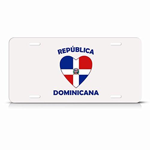 KSLIDS Dominikanische Republik República Dominicana Herz Love Flagge Metall License Plate Tag -