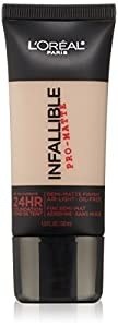 L'Oreal Paris Cosmetics Infallible Pro-Matte Foundation Makeup - Classic Ivory