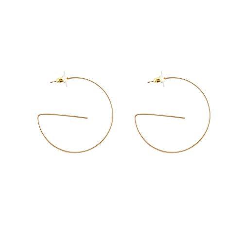 Floweworld Mode Persönlichkeit Ohrringe Damen geometrische Beschichtung Goldlegierung Ohrringe Tropfen baumelt Ohrring -