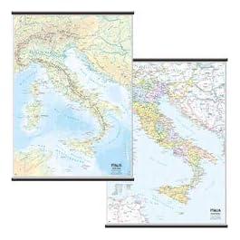Carta geografica murale fisica e politica ITALIA Belletti 97×134 cm MS01PL