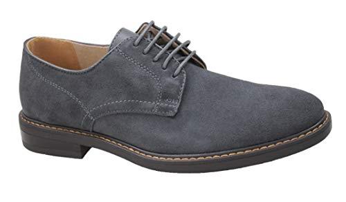Evoga scarpe uomo casual grigio scamosciate polacchine man's shoes eleganti (45)