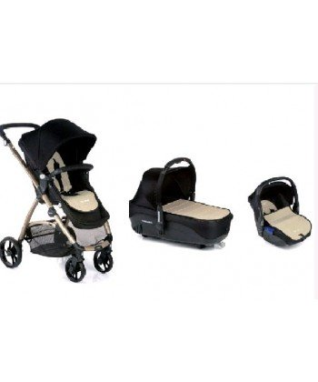 Be cool-auto, buggy trio slide 3cocoon modello nero/beige