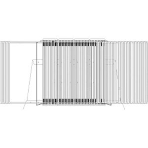 Tarifold Sichttafelständer A4 grau Metall mit 40 Sichttafeln grün
