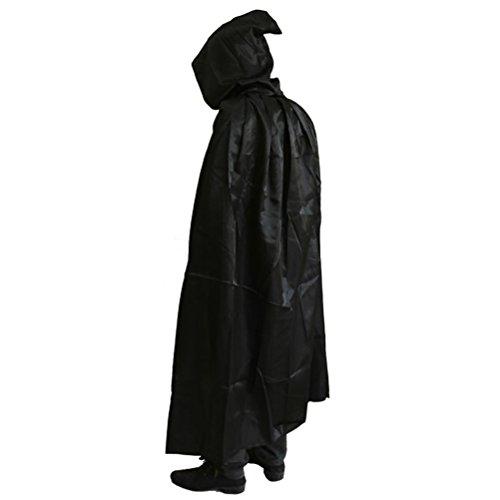 Zhhlinyuan [Halloween Kostüm Herren Maskenspiel Cosplay Lange mit Kapuze Umhang Kostüm für Unisex Erwachsener Halloween Partei Grim Reaper Cape