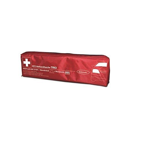 Actiomedic Kfz-Verbandtasche TRIO nach § 35h StVZO mit DIN-Füllung 13 164, Warnweste + Warndreieck