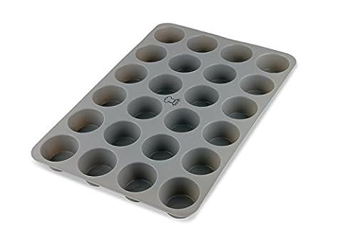 Backefix 24er Mini Muffinblech aus Silikon Muffinform mit Antihaftbeschichtung –