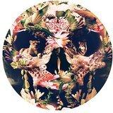 à la mode Floral Tête de mort Cool rond Motif Mouse Pad 20x 20cm