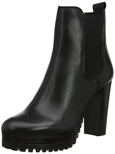 TOMMY HILFIGER Damen PIN Logo Heeled Chelsea Boot Stiefeletten, Schwarz (Black Bds), 40 EU