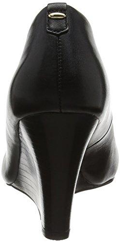 Aldo Augustino, Escarpins compensé femme Noir (cuir noir)