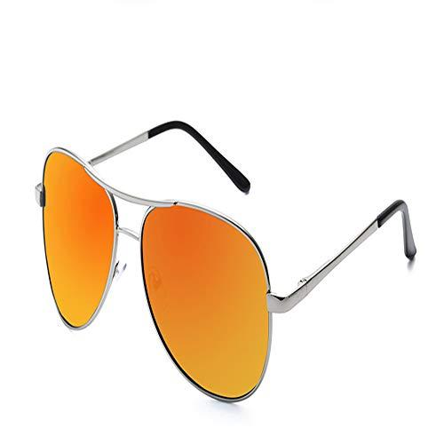 YDOMY 2019 Neue Sonnenbrillen Herrenbrillen Sonnenbrillen Flut Menschen Polarisierten Spiegel Fahren Spezielle Fahrer Flut Großes Gesicht Silberrahmen Orange Rot Tabletten Fahren