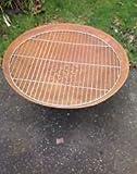 Grillrost,Gitterrost für Feuerschale Pflanzschale 70 cm rund Gartendeko Edelrost