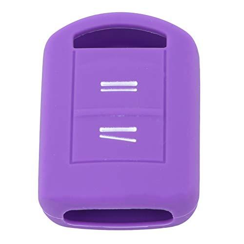 JIFNCR Autoschlüssel Abdeckung Einfache Stil Staubdicht Auto Key Case Autoschlüssel Kürbis Halter Abdeckung Fall Keychain, Lila