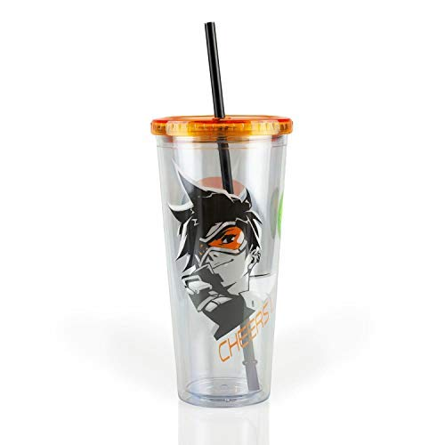 Overwatch Tracer Cheers Luv 24 oz Carnival Cup (Cheers Logo)