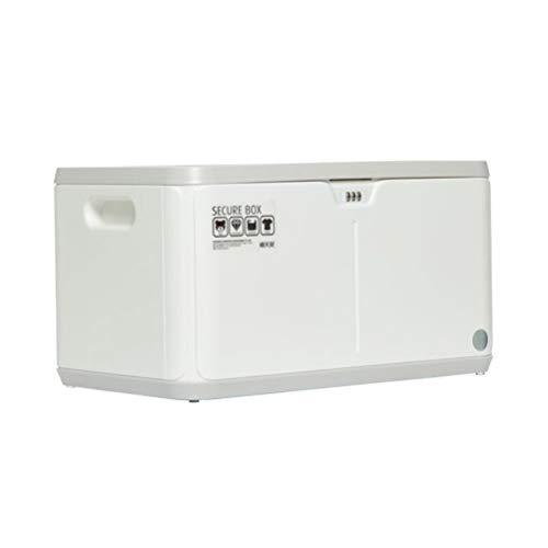 Goli-Storage Große stapelbare Kunststoff-Aufbewahrungsboxen mit Deckel, Kennwort-Box-Datei Home Office Safe mit Kennwortsperre (27L) (Farbe : Weiß) (Datei-boxen Mit Deckel)