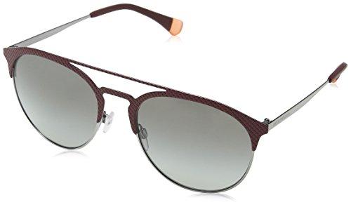 Emporio armani 0ea2052 318311 56, occhiali da sole donna, grigio (mat bordeaux/gunmetal/greygradient)