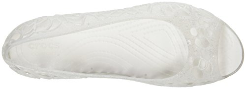 Crocs Crocs Isabella Jelly Flat W Oyswgltr, Ballerines femme Multicolore (Oyster With Glitter)