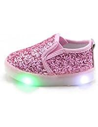 Feicuan Toddler Girls Intermitente Zapatos con Luces Light Up zapatilla de deporte