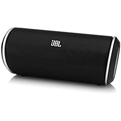 JBL FLIP II - Altavoz portátil Bluetooth de 12 W (16 x 6,5 x 6,5 cm), negro y plateado