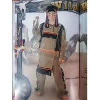 Fiori paolo- indianino costume bambino, multicolore, 3-4 anni, 61310.3-4