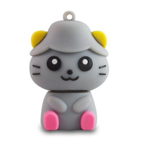 818-Shop No9600040004 USB-Sticks (4 GB) Lustige Katze 3D grau