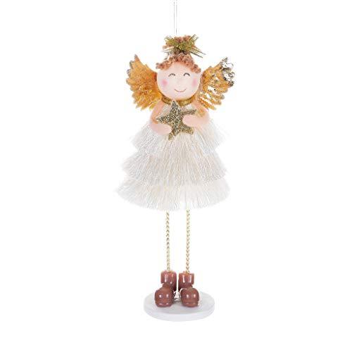 Blonde Kostüm Cute - WOBANG Weihnachts deko, Weihnachts Dekoration Weihnachtsschmuck Cute Angel Doll Desktop Dekoration Weihnachtsbaum Anhänger (B)