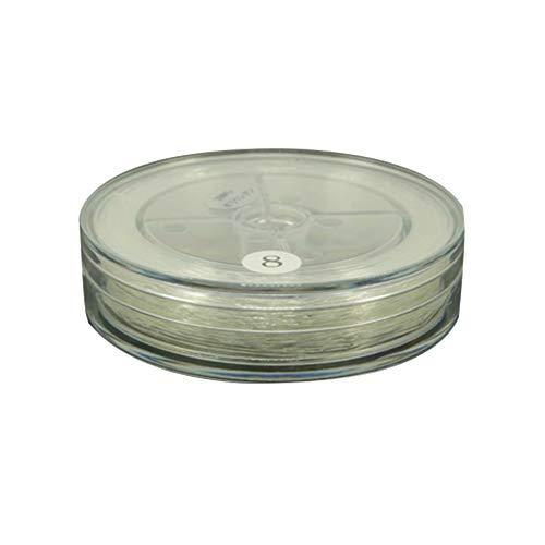 nbeads 4 Rouleaux (42 m/Rouleau) 0.8 mm Clair Cristal élastique Perles Filetage Craft Bracelet Perles Filetage pour la Confection de Bijoux