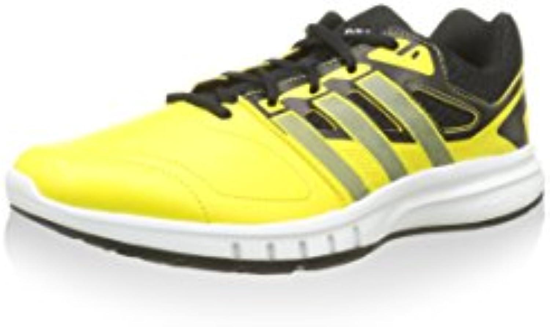 adidas Herren Galaxy Trainer Sneaker  Gelb/Schwarz  42 2/3 EU
