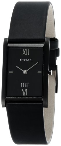 Titan Edge Analog Black Dial Men's Watch - NE1043NL01