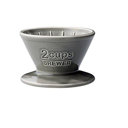 Kinto Slow Coffee Porzellankaffeefilter für 2 Tassen. Farbe: grau